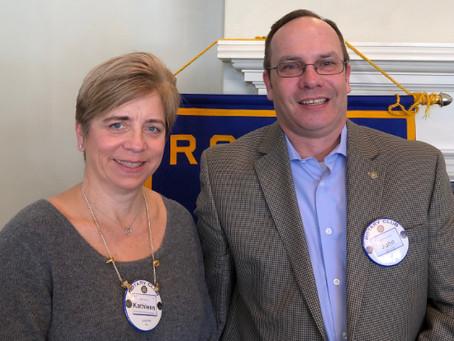 John David Inducted into Easton Rotary