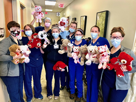 Valentines Day Teddy Bears for Cancer Patients