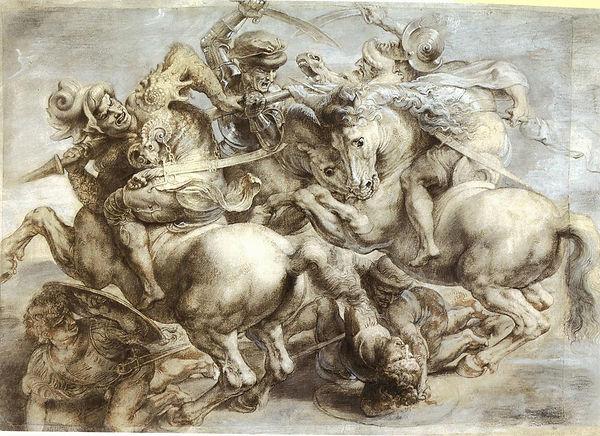 הקרב על אנגיארי של לאונרדו -צייר פיטר פא