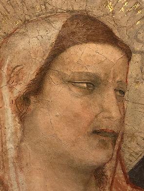 ראש אישה מאת ג'יוטו במוזיאון מאחורי הסנטה קרוצ'ה
