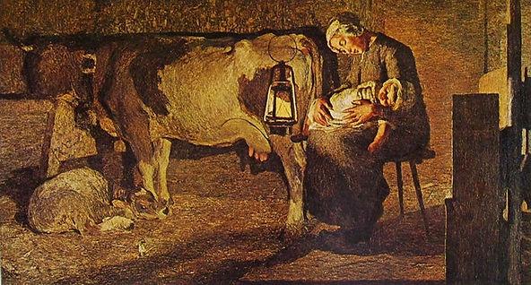 """סגנטיני, שתי האימהות, 1889, שמן על בד, 157X280 ס""""מ, הגלריה לאומנות מודרנית, מילאנו."""