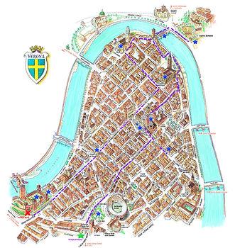 מפת מסלול עיר עתיקה ורונה