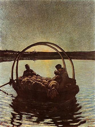 סגנטיני, אווה מריה במעבר (גרסה ראשונה), 1882, שמן על בד (ציריך, אוסף פרטי).