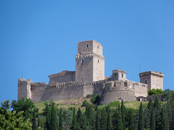 המצודה אסיזי אומבריה איטליה