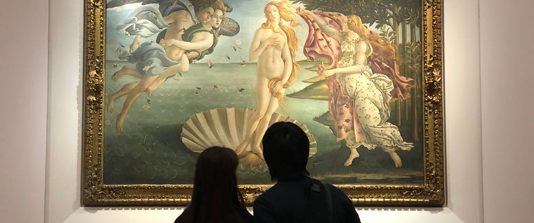 """""""הולדת ונוס"""" סנדרו בוטיצ'לי - מוזיאון האופיצי - איטליה"""