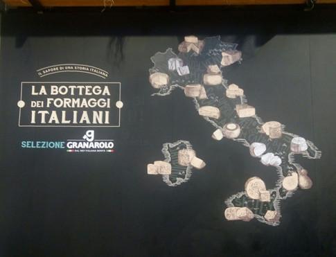 מפת יצור גבינות באיטליה