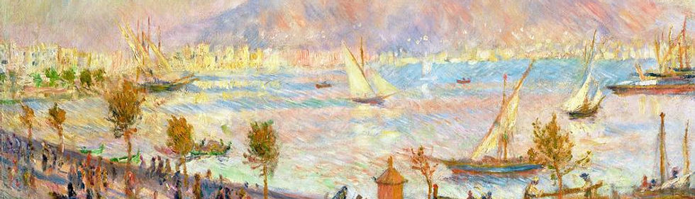 ציור של מפרץ נאפולי - רנואר