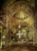 פנים בזיליקת סאן מרקו ונציה