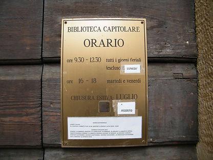 שעות פתיחה ספריית קפיטולרה ורונה