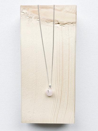 collier quartz rose sølv