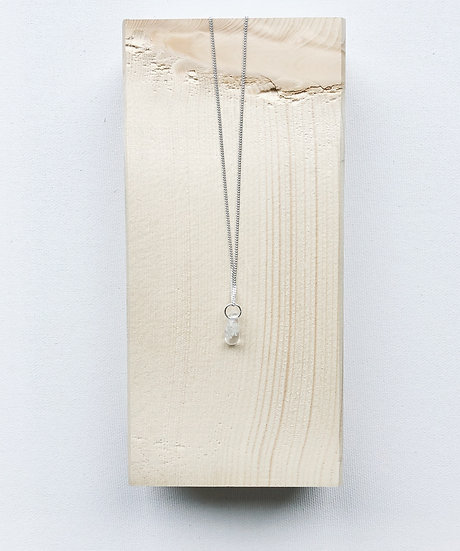 collier quartz sølv