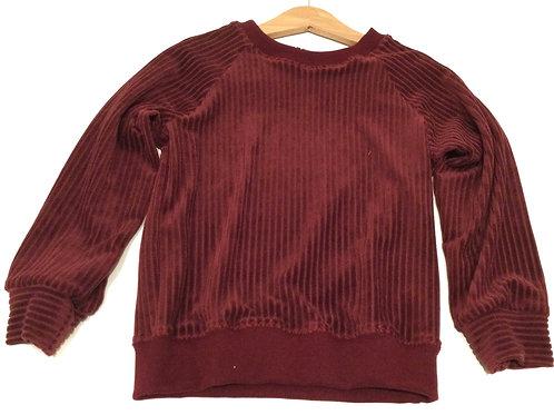 Sweater, bordeaux ribvelours