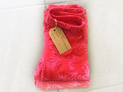 Tricot legging, roze bloemen