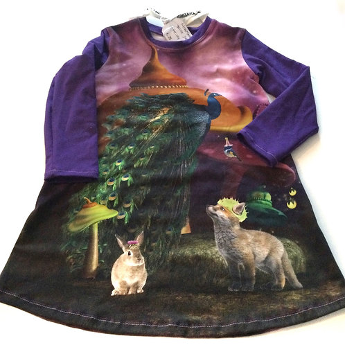 Tricot jurk, bosdieren