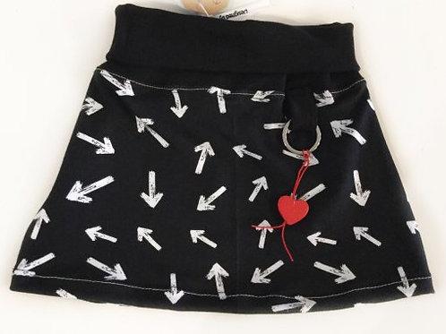 Tricot rok, zwart+pijlen