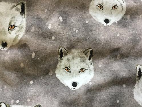 Tricot van met een wolven print voor pre orders.