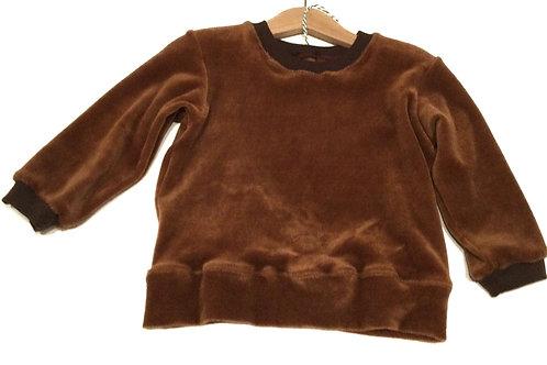 Velours sweater, bruin