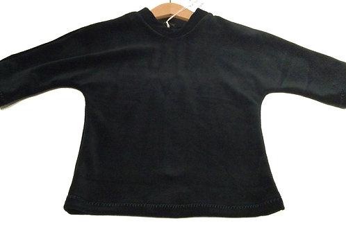 Velours shirt met kleine col