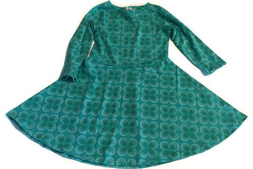 Tricot jurk, blauwe retro