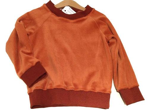 Sweater, oranje velours