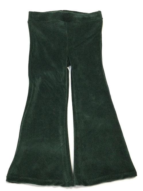 Flared legging, groen velours