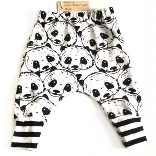 tricot broek, panda's