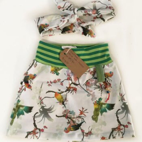 Tricot rok, vogels
