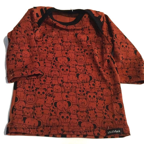 Shirt, animals/stripes