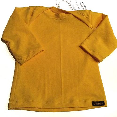 Tricot shirt, helder geel