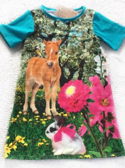 Tricot jurk, veulen