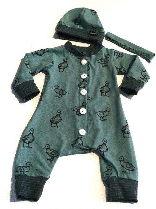 Boxpakje/jumpsuit, eendjes
