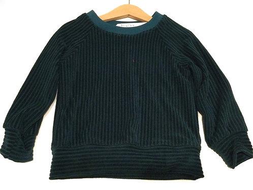 Sweater, petrol rib