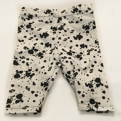 Tricot legging, wit+spatters