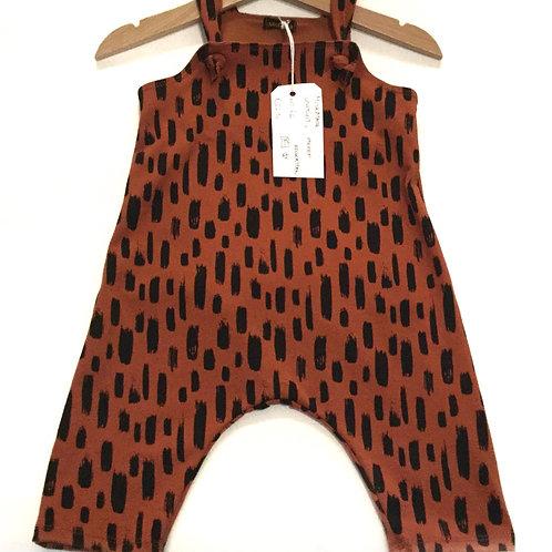 Jumpsuit, black stripes