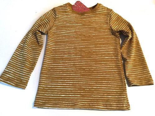 Tricot shirt, stripes yellow