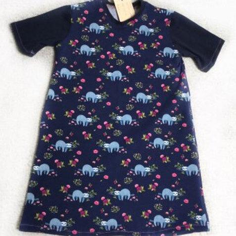 Tricot jurk, luiaard