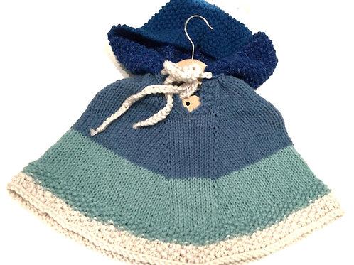 Poncho, blauwe