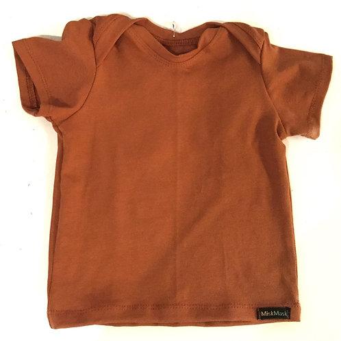 Effen roestbruin shirt