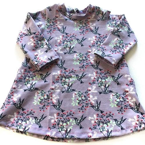 Tricot jurk, kolibri's