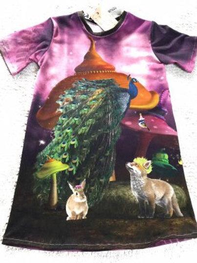 Tricot jurk, dieren