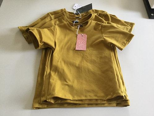 Effen mosterd geel shirt