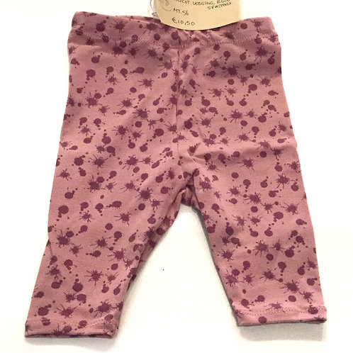 Tricot legging, roze+spatters