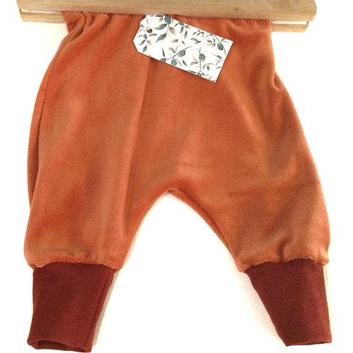 Broek, oranje velours