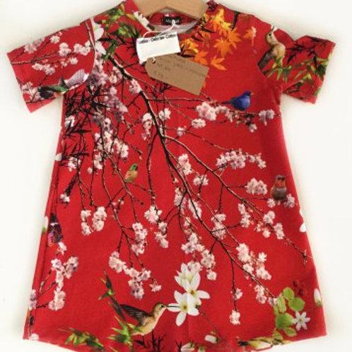 tricot jurk, bloemen