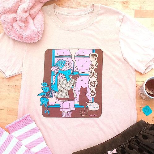 雪 (yuki) camiseta