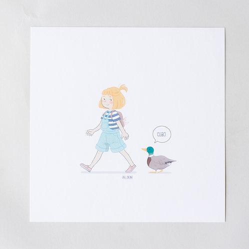Print niña-pato
