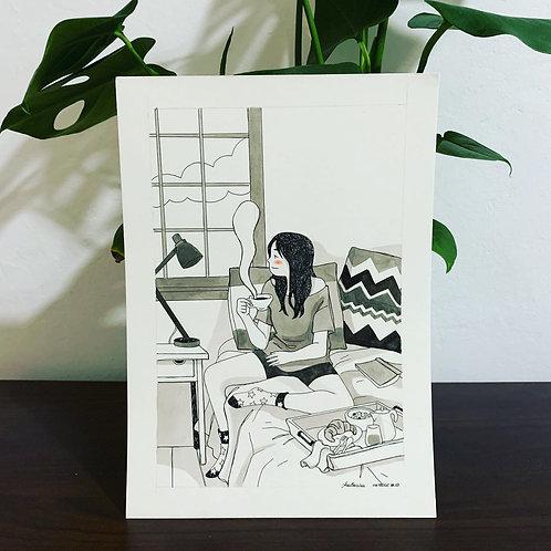 Inktober-Lady Desayuno