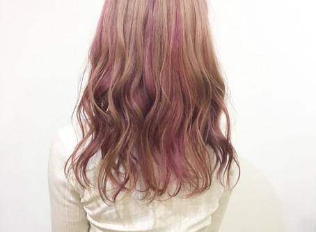 薄いピンク濃いピンク