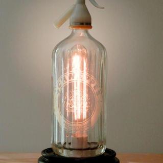 Vintage Seltzer Bottle Lamp
