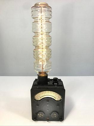 Vintage Volt Meter Lamp